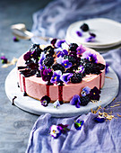 Lemon and Blackberry Cottage Cheesecake