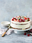 Light spring cake with berries