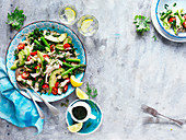 Poached Chicken and Kale Salad
