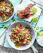 Pork Cutlets with Asian Slaw