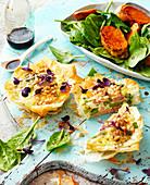 Tuna and Aspargus Quiche with Kumara Salad