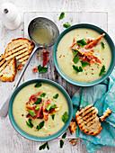 Cauliflower and Zucchini Soup