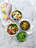 Four ways with Baked Fish Toppers