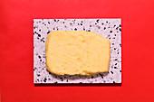 Potato dumpling dough on a stone platter