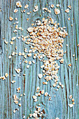 Oatmeal on a wooden background