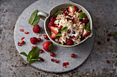 Muesli with berries and yoghurt
