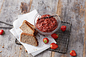 Strawberry and chia jelly