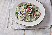 Cucumber salad with a white dill dressing