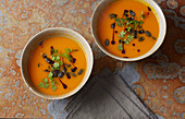 Autumnal pumpkin soup