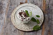 Mint cream with dark chocolate