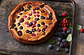 Berry quark cake