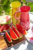Stücke von Wassermelone
