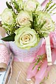 Kleiner Rosenstrauß zum Valentinstag