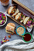 Korean jackfruit sliders