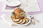 Rotolo di vitello con frittatina (roast veal roulade with omelette, Italy)