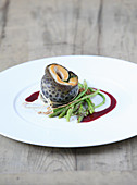 Trout rollmopswith wild asparagus