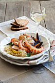 Choucroute with seafood (Alsace)