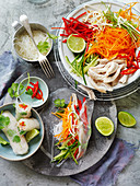 Ginger and Chilli Chicken Rice Paper Rolls