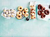 Four Ways with Doughnuts - Custard Filled, Lemon-Glazed, Jam-Filled , Chocolate Glazed