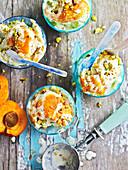 Apricot Pistachio Frozen Yoghurt