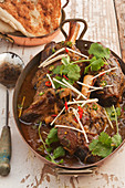 Lamb shanks with indian spices