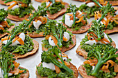 Canapes with Tenderstem Broccoli and Sour Cream