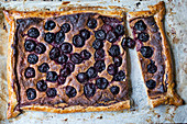 Cherry Galette on a burnt Rustic Baking Tray