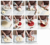 How to bake a yeast cake with raspberries and pecans