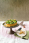 Crostata with green vegetables