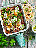 Baked Turkish Eggs with Lamb Mince