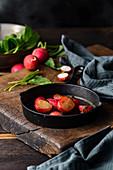 Carmelized radishes