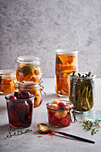 Pickling and fermenting it in a selection of sweet and savoury