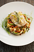 Cod with fennel salad