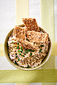 Rillette with sardines, ginger and crispbread