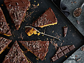Carrot cake with chocolate