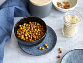 Dried chickpeas with sesame seeds