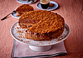 Chocolate Torte with Slice Removed