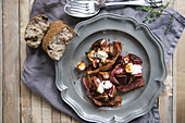 Stuffed figs with cream cheese and bacon