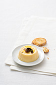 Cheese cream with anchovy butter