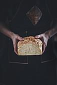 Sliced spelt and oat bread