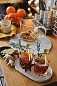 Mulled tea and gingerbreads