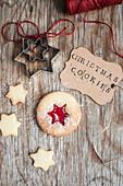 Christmas jam cookie