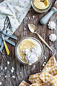 Lemon tiramisu - Biscuits, lemon syrup, lemon curd and meringues