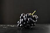 Eine Traube schwarze Weintrauben