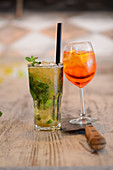 Wheat beer Mojito & a Rosato Spritz