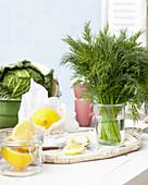 Frischer Dill und Zitrone