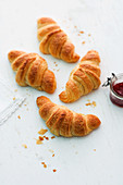 Croissants and jam for breakfast