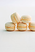 A stack of apricot macaroons
