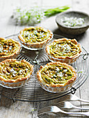 Wild garlic and goat's cheese tartlets