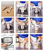 Making crème brûlée